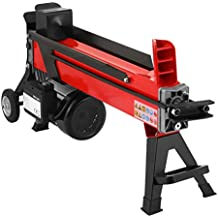 """OrangeA Log Splitter 7 Ton 3400RPM Electric Log Splitter with 7"""" Wheels Hydraulic Wood Splitter Can Split Wood Easily (7 Ton)"""