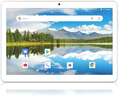 Android Tablet 10 Inch, Dual SIM Card Slots with 32GB Storage, Quad-Core Processor, WiFi, Bluetooth, GPS HD Touch Screen