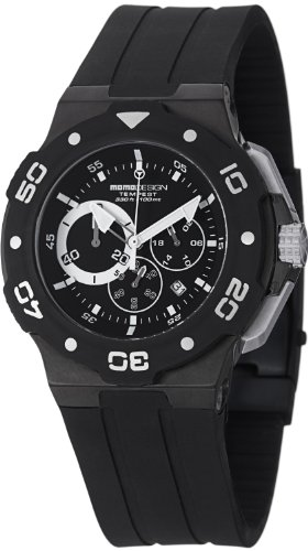 Momo Design Men's MD1004BK-02BKWT Tempest Analog Display Swiss Quartz Black Watch