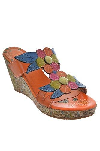 sandales - nu pieds laura vita verdi orange