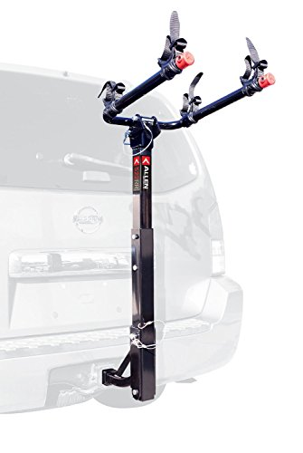 Allen Sports Deluxe 2-Bike Hitch Mount Rack , Silver/Black (2 Bike Hitch Rack)