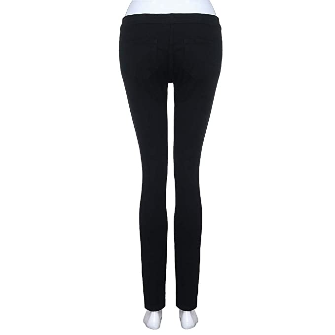 abcnature Jeans for Women Pants, Women Casual Slim Solid ...