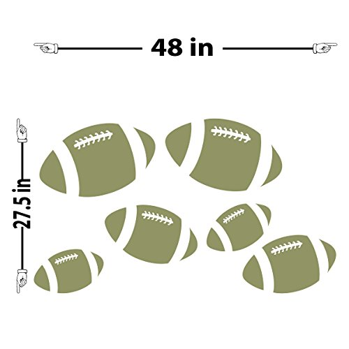 Footballs Wall Decal (Olive, 28