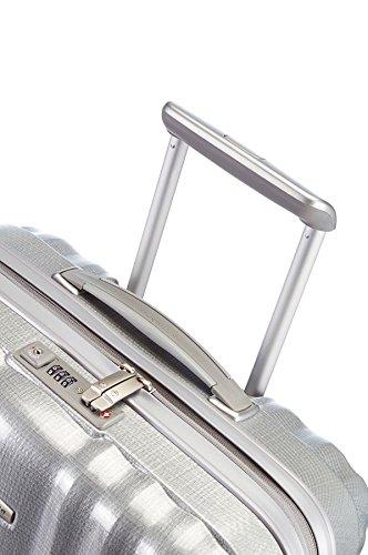 Samsonite LITE-CUBE ROLLING TOTE PLUS Laptop Rollkoffer, 31.5 Liter, Silber