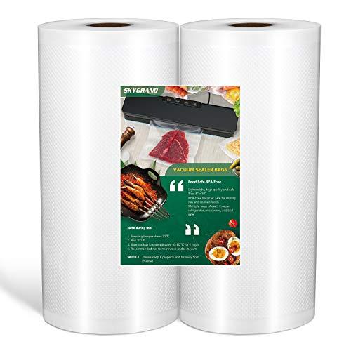 "Food Grade Material 8""x50 feet Rolls 2 Pack Vacuum"