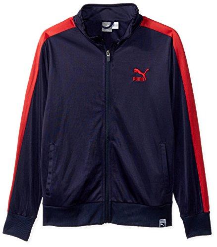 Athletic Kids Track Jacket - PUMA Boys' Big Tricot Track Jacket, Peacoat, L