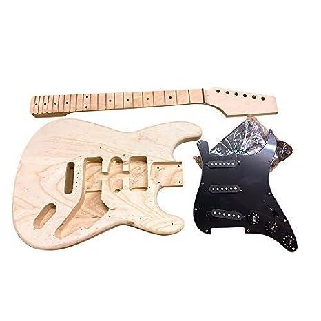 Coban Guitars HY280 US Fresno Guitarra Eléctrica Kit construcción para estudiante & Luthier Proyectos - Negro