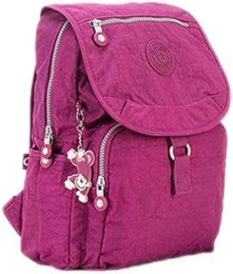 Small Backpack Teenage Girls Mochila Feminina Women Backpacks Female Solid Nylon Casual Travel Bagpack Color 13 27CMX13CMX37CM 1326