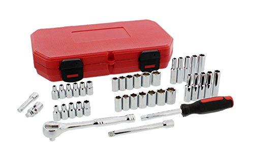 - ABN 39 Piece 1/4in Drive Socket Set - CV Steel