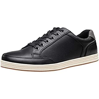 VOSTEY Men's Dress Sneakers Black Casual Shoes for Men Business Oxfords Sneakers Comfortable Breathable Fashion Sneakers (10,Casual fashion858-black)