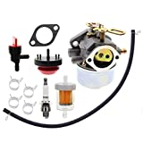 Carbhub 640052 Carburetor for Tecumseh HMSK80 HMSK90 HMSK100 LH318SA LH358SA Snow Blower Thrower 8HP 9HP 10HP Engine Tecumseh 640054 640349 Carburetor with Primer Bulb - 640052 Carburetor