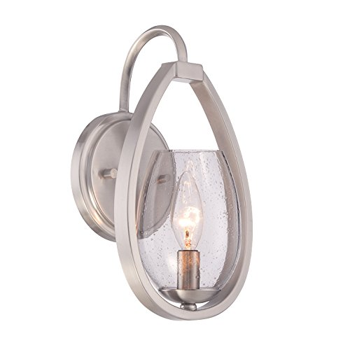 Eurofase 28074-014 Modern Fantini 1-Light Wall Sconce, Satin Nickel