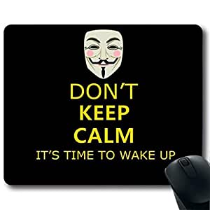 "DON?¡¥T KEEP CALM IT'S TIME TO WAKE UP Customized Rectangle Non-Slip Rubber Mousepad Gaming Mouse Pad 9""X7.4"""