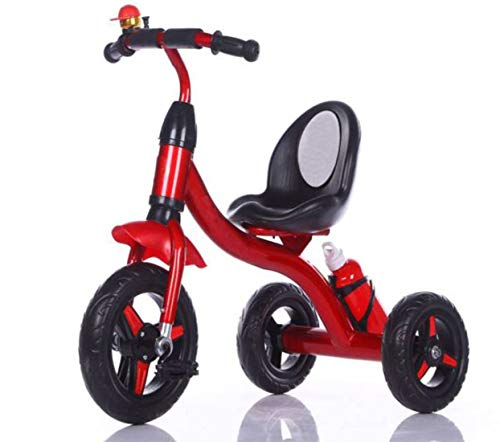 BABY TRICYCLE FOR KIDS WITH BOTTLE RED BLACK COLOUR KIDS TRICYCLE RECOMMENDED TRICYCLE FOR BABY GIRL OR TRICYCLE FOR BABY BOY OR TRICYCLE FOR TODDLER GIRL OR TRICYCLE FOR TODDLER BOY RECOMMENDED FOR TODDLER 1,2,3,4,5 YEAR CHILDREN TRICYCLE FOR KIDS