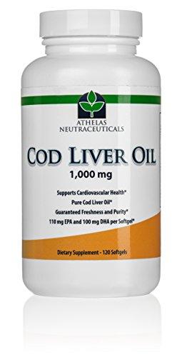 Cod Liver Oil Capsules - 120 gélules de supplément de prime de foie de morue huile à la vitamine A et D - fraîcheur et de pureté garanti - 240 mg d'oméga-3 acides gras - 110 mg EPA 100mg de DHA
