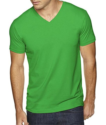 Next Level Apparel 6440 Mens Premium Fitted Sueded V-Neck Tee - Envy, Extra Small