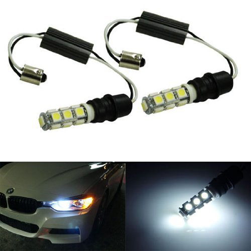 iJDMTOY 6000K Xenon White CAN-bus Error Free 13-SMD-5050 LED Lights For non-Xeonn trim BMW F30 3 Series 328i 335i Position Parking Lights