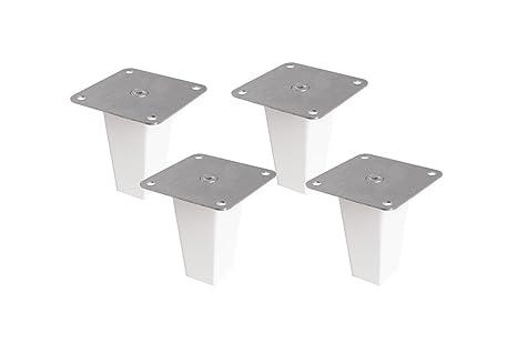 Scaffale Legno Grezzo Ikea.Ikea Set Di 4 Piedini In Legno Per Scaffali Kallax In Legno Di