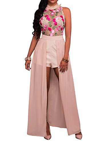 Glamaker Womens Embroidery Floral Sleeveless product image