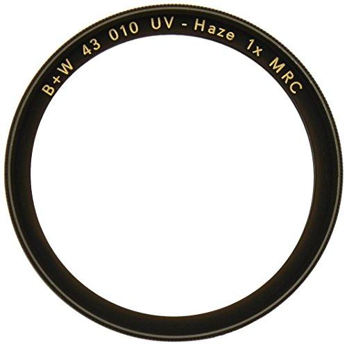 B + W 43mm Clear UV Haze Filter con revestimiento multirresistente (010M)
