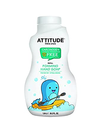 ATTITUDE Foaming Hand Soap Refill, Pear Nectar, 35.5 Fluid Ounce