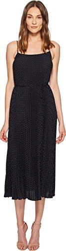 Pleated Vince Dress (Vince Women's Polka Dot Pleated Cami Dress, Coastal/Sandstone, Large)