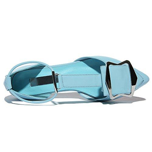Scarpe Da Donna Con Cinturino In Pelle A Forma Di Nove Eleganti Scarpe Da Donna In Pelle Verniciata Nove