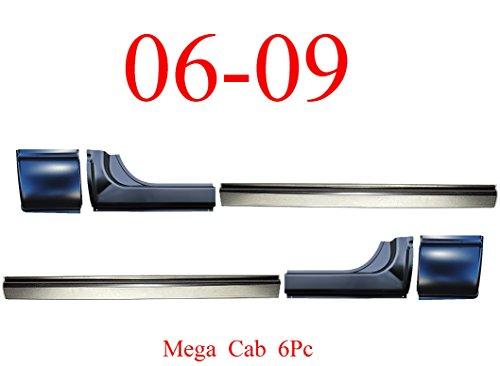 06-09 Mega Cab 6Pc Rocker & Cab Corner, Dodge Ram Truck