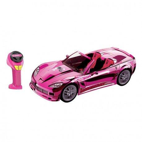 Barbie Crusin Convertible Corvette Radio Control Car RC Pink