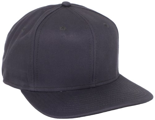 Dickies Men's Solid Snapback Hat, Charcoal, One (Snapback Cap Charcoal)