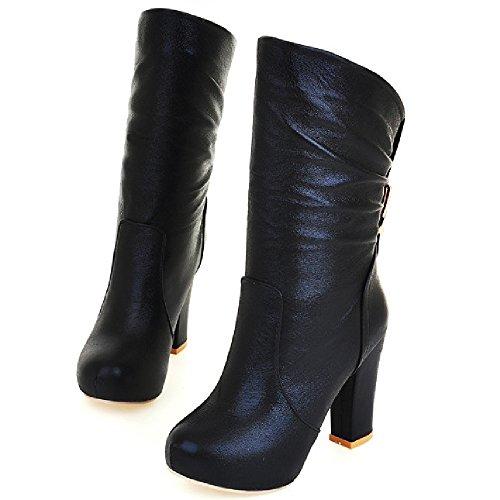 Black Women's Boots Taoffen On Pull 7OqwU