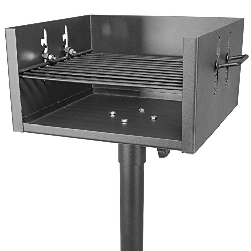 Titan Large Single Post Park Style Grill 16ga Party 3 Position Cookout Camping ()