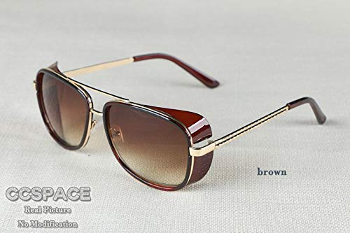 GFF Male Sunglasses Tony Stark Iron Man Matsuda Sunglasses Retro Vintage Eyewear Sun Glasses UV400 De ()