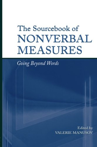 The Sourcebook of Nonverbal Measures: Going Beyond Words by Brand: Psychology Press