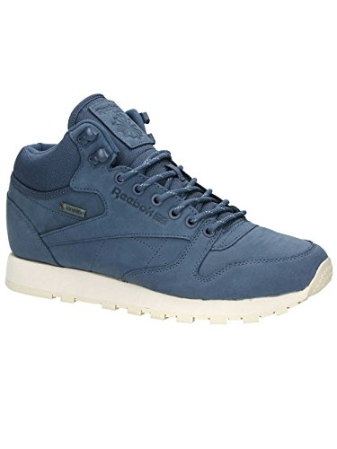 Reebok Herren Winterschuh Classic Leather Mid Gore-Tex Sneakers royal slate/paperwhite/be