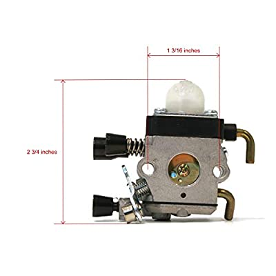 Welironly Aftermarkert Replacement for Zama C1Q-S186 and Stihl Carburetor FS38 HS45 FS45 FS45EZ : Garden & Outdoor