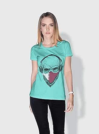 Creo Qatar Skull T-Shirts For Women - S