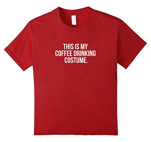 Coffee Pot Costume (Kids This is my Coffee Drinking Costume funny Halloween tee shirt 10 Cranberry)