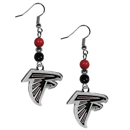 NFL Atlanta Falcons Fan Bead Dangle Earrings