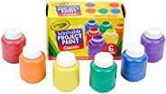 Crayola Washable Kids Paint, Classic Colors, 6 Count, Painting Supplies, Gift…