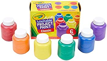 Crayola 6 59ml Paint Jars, School, Craft, Painting and Art Supplies, Kids, Ages 3,4, 5, 6 and Up, Holiday Toys, Stocking...