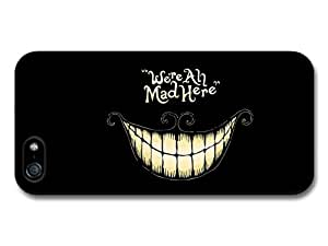 Alice in Wonderland Cheshire Cat Smile We're All Mad Here Book Quote Case For HTC One M8 Cover
