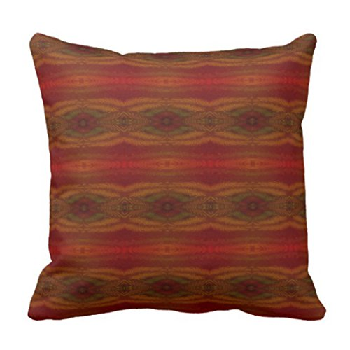 Emvency Throw Pillow Cover Southwestern Red Yellow Green Western Intricate Decorative Pillow Case Home Decor Square 18 x 18 Inch Pillowcase