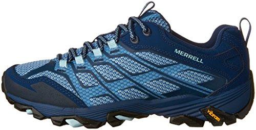 Merrell Womens/Ladies Moab FST Breathable Leather Walking Shoes Poseidon G3Tnn9