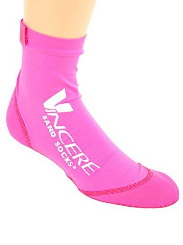 Sand Socks Vincere for Soccer, Volleyball, Snorkeling Medium Pink
