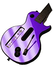 Purple Chrome Mirror Vinyl Decal Faceplate Mod Skin Kit for Nintendo Wii Guitar Hero III 3 (GH3) by System Skins