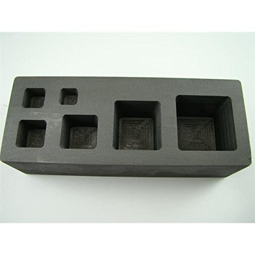 Make Your Own Gold Bars 0.25-0.5-1-2-5-10 oz Cube Mold 0.2544; 0.544; 144; 244; 5 & 10 oz High Density Graphite Mold Gold Bar Tall Cube Copper Square