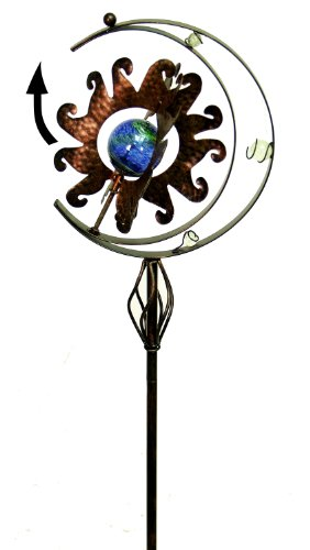 Echo Valley 4360 50-Inch Illuminarie Armillary Celestial Spinner Stake ()