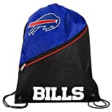 Buffalo Bills High End Diagonal Zip Drawstring Bag