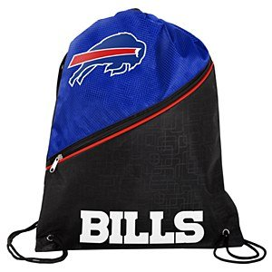 Buffalo Bills High End Diagonal Zip Drawstring Bag by Forever Collectibles (Image #1)